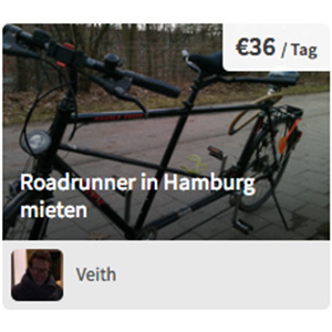 Tandem Roadrunner in Hamburg mieten